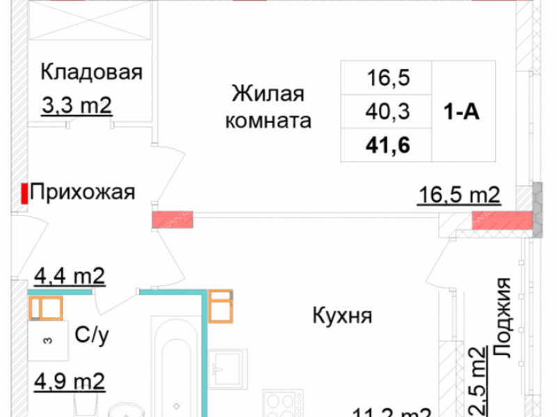 однокомнатная квартира в новостройке на улица Глеба Успенского, дом №5