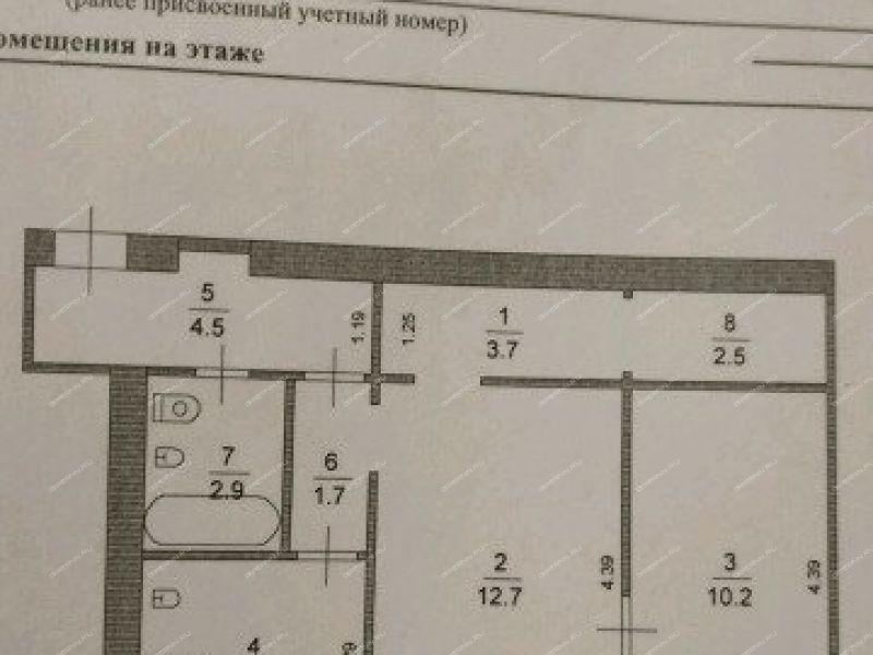 двухкомнатная квартира на улице Шверника дом 17 город Саров