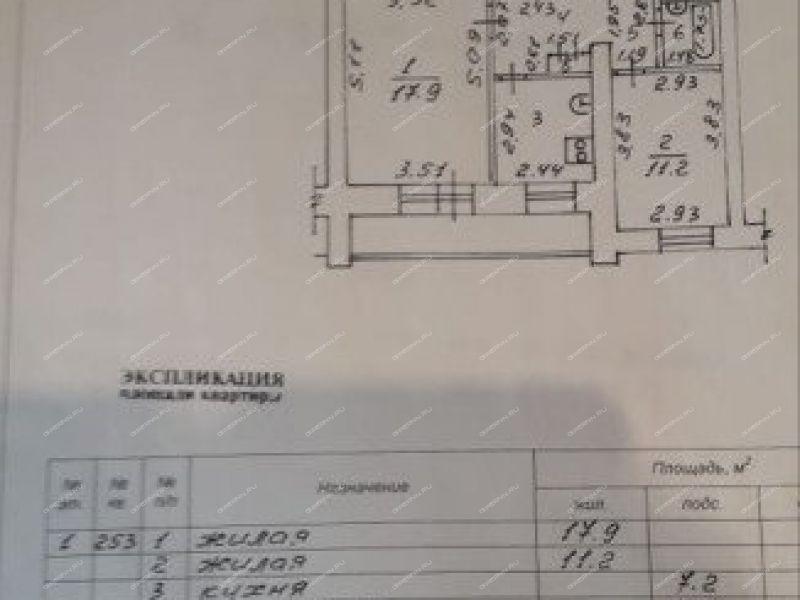 двухкомнатная квартира на улице Зернова дом 68 город Саров