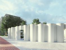 Новый сквер Бетанкура: бизиборды, лавки втрубах исуперклумба