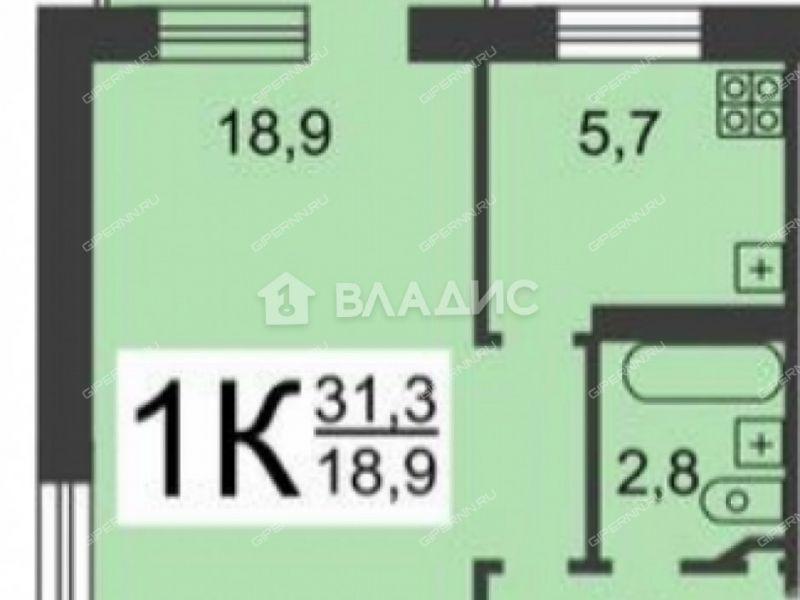 однокомнатная квартира на проспекте Ленина дом 28 к6