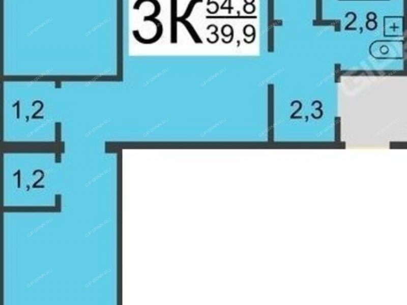 трёхкомнатная квартира на площади Максима Горького дом 4