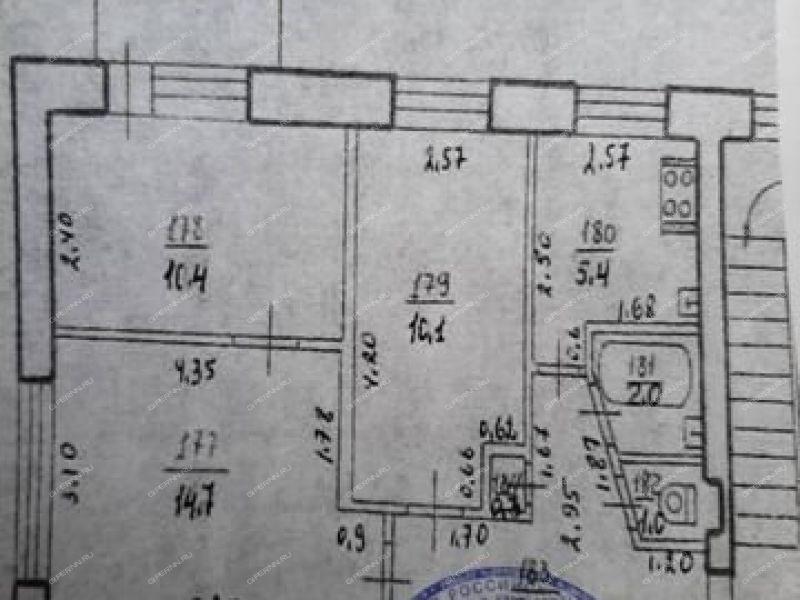 трёхкомнатная квартира на улице Пушкина дом 7 город Заволжье